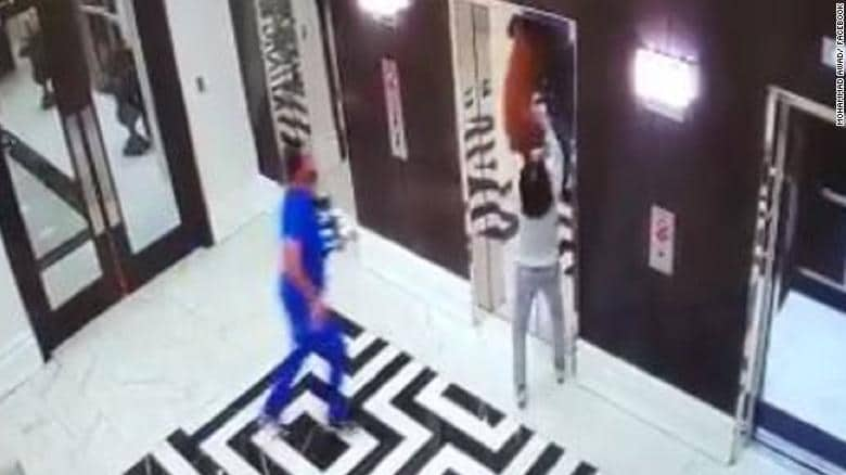 A Quick Thinking Doctor Saves The Life Of A Dog Stuck In Elevator