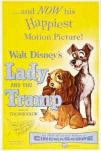 Movie poster for the movie Lady and the Tramp